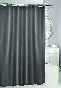 Moda At Home 204310 Waffle Fabric Shower Curtain Grey