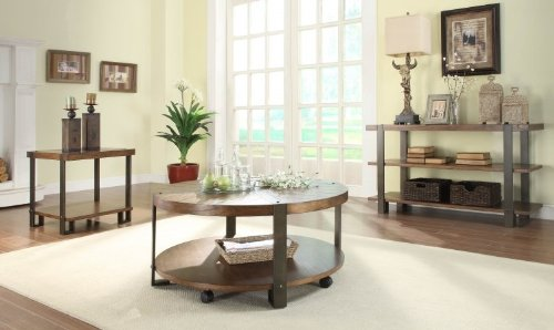 Round Coffee Table on Casters by Homelegance