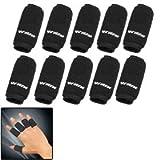 10PCS Black Sports Elastic Finger Sleeve Protector