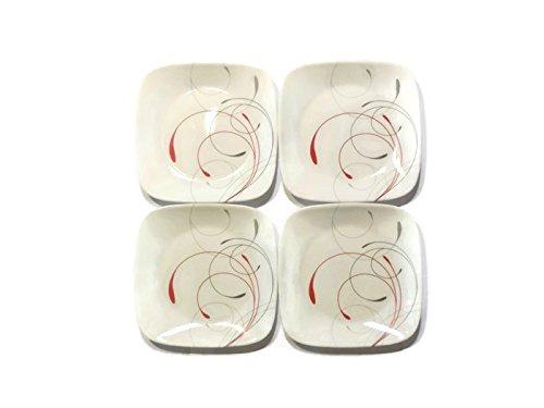 Corelle Dinnerware Dessert Plates Set, Square Splendor 6.5