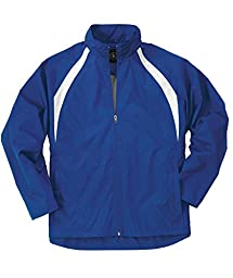 Charles River Apparel Youth TeamPro Jacket, Royal/White, Small (7/8)