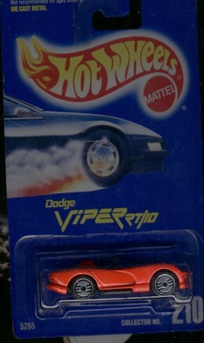 Hot Wheels Red Dodge Viper RT/10 #210 Silver Ultra Hots 1:64 Scale - 1