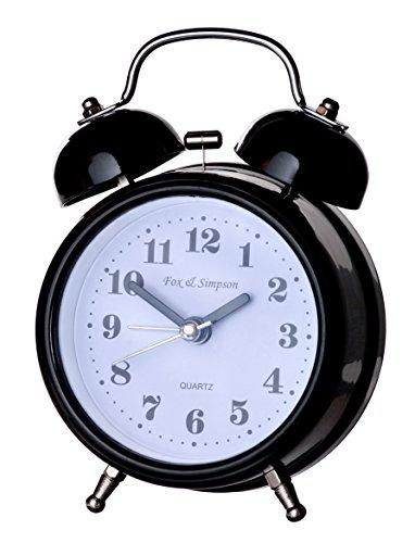 Fox And Simpson Kearsley Silent Sweep Bell Alarm Clock