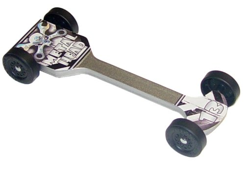 Metal Head Extreme Speed Pinewood Derby Car Kit (Basic)
