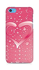 Amez designer printed 3d premium high quality back case cover for Apple iPhone 5C (Heart drops water wilderness surface)
