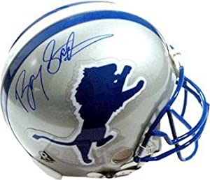 Barry Sanders Autographed Hand Signed Detroit Lions TB Full Size Proline Helmet by Hall of Fame Memorabilia