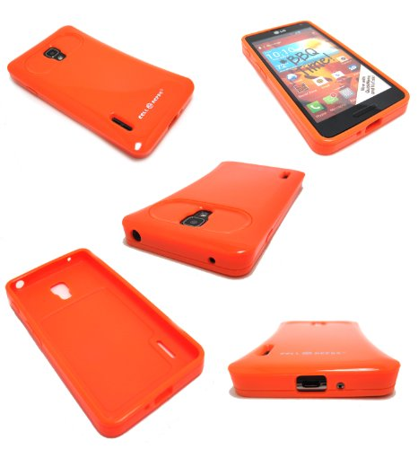Cell-Nerds Gummy Cover For Lg Optimus F7 Us780 (By Boost Mobile / Us Cellular) (Orange)
