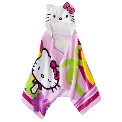 """Hello Kitty Hooded Towel Wrap 23"""" X 51"""" front-912589"""