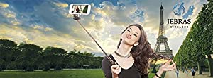 NEW Selfie Stick, Jebras Wireless Brand, Monopod Extendable Wireless Bluetooth Selfie Stick, Bluetooth Remote Shutter for Android, iPhone 5 5S 5C, iPhone 6, iPhone 6 Plus