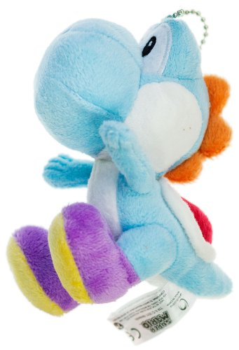 "Blue Yoshi (B) ~5"" Plush - Super Mario Mini-Plush Charm Series"