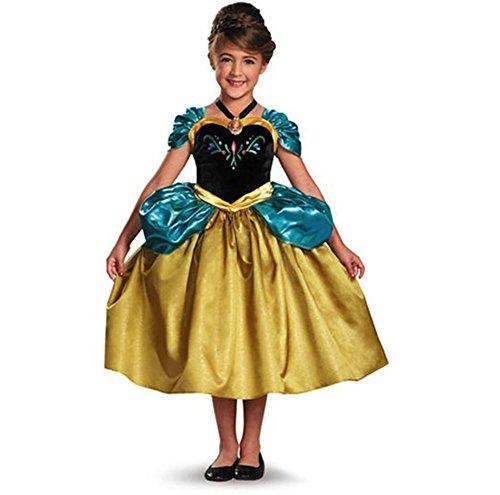Disney Frozen Anna Costume Dress With Locket Size Small 4-6