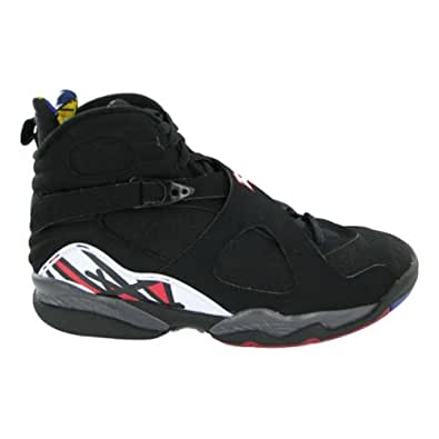"Nike Mens Air Jordan 8 Retro ""Bugs Bunny"" White/Black-True Red Leather Basketball Shoes Size 8"