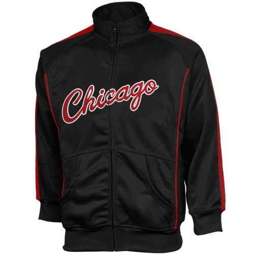 NBA Majestic Chicago Bulls Youth Tricot Team Full Zip Track Jacket - Black (Small) at Amazon.com