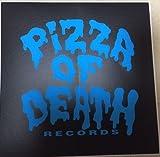PIZZA OF DEATH(ピザオブデス)ステッカー 黒×ブルー