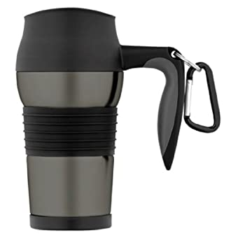 With a 2-3/4-inch bottom that fits most vehicle drink holders, this lightweight mug makes hot coffee, tea, or chocolate available on the road. Hot beverages stay hot for at least 1 hour. Cold beverages stay chilled for several hours. Twist the finely...