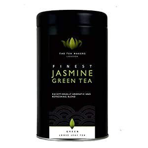 The Tea Makers of London Natural Chinese Jasmine Green Loose Leaf Tea 125 g Caddy