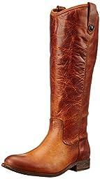 FRYE Women\'s Melissa Button-WAPU Riding Boot,  Cognac Extended, 6 M US