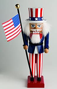 Decorative Christmas Nutcracker - Uncle Sam (12.2 inches) by KWO