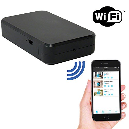 SpygearGadgets 1080P HD WiFi / Internet Streaming Mini Black Box Hidden Spy Camera / Nanny Cam / Home Surveillance and Security Camera | iPhone and Android Compatible | Model HC450w (Wi Fi Spy Cam compare prices)