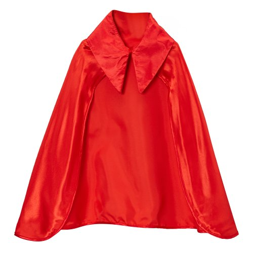 Kids Red Devil Satin Cape