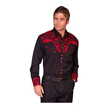 Scully Men's And Embroidery Retro Western Shirt - P-634 Tom