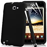 "***** VENTES FLASH COFFRET� ***** Coque SAMSUNG GALAXY NOTE N7000 Housse silicone �tui gel TPU DESIGN Original "" Black Sublime "" + 3x Film protection �cran LCD transparent + STYLET capacitif tactile fin couleur noir pour Galaxy Note 1 OFFERT ! ********** de QUALIT� LUXE VERITABLE ***********par Access-Discount�"