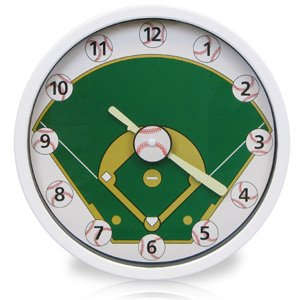 Timekeeper Timekeeper 10 Baseball Clock (Catalog Category: General Merchandise / Clocks )