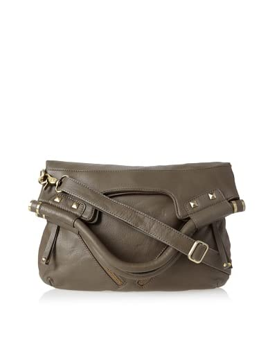 Chez by Cheryl Women's Jemma Medium Foldover Shoulder Bag, Olive Solid As You See