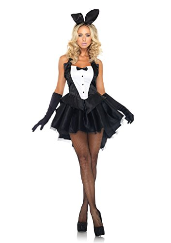 Wildestdream Womens 3 Piece Tux and Tails Bunny Tuxedo Costume