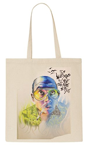 fear-and-loathing-in-las-vegas-raoul-duke-too-weird-to-live-fan-art-tote-bag