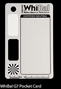 GENUINE WhiBal G7 Certified Neutral White Balance Card - Pocket Card (2.1