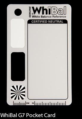 "GENUINE WhiBal G7 Certified Neutral White Balance Card - Pocket Card (2.1""x3.35"")"