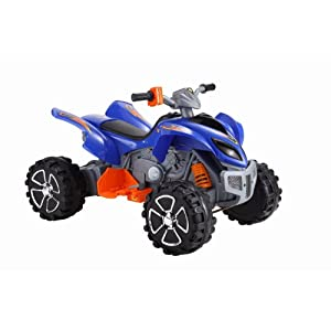 Raptor 12v Quad Bike Blue Kids Electric Ride On New 2011 Model