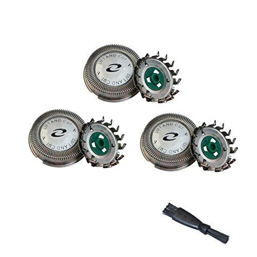 Oral-Q 3 pièces Dual Precision Tête de Rasoir Rechange pour Philips HQ7325 HQ7340 HQ7360 HQ7390 HQ64 lames de rasoir Shaver Heads