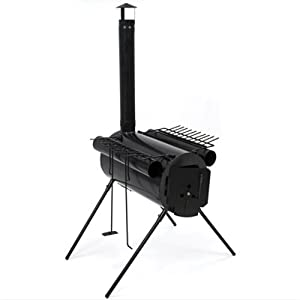 Portable Military Camping Steel Wood Stove Tent Heater for Fishing Camp Cooking by Best Choice Products