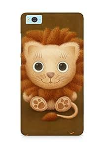 Amez designer printed 3d premium high quality back case cover for Xiaomi Mi5 (cute lion brown animal)