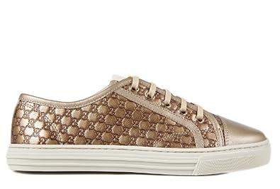 gucci damenschuhe turnschuhe damen leder schuhe sneakers micro gg gold eu 39 310031 ap120 9504. Black Bedroom Furniture Sets. Home Design Ideas