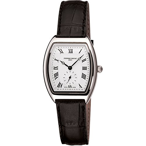 Frederique Constant Art Deco Fc-235M3T26 30 Stainless Steel Case Black Leather Anti-Reflective Sapphire Women'S Watch