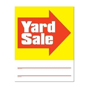 Amazon.com : Inscribirse 3332 Yard Signs Venta, Conjunto de 4 muestras