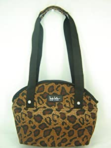 Nicole Miller Insulated Lunch Bag Tote Cheetah Print Multi
