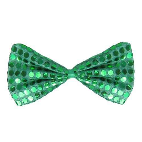 SeasonsTrading Green Sequin Bow Tie ~ Fun Costume Party Accessory (STC12061)