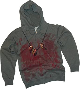Daryl Dixon Costume -- The Walking Dead Hoodie Zipper-Fleece Sweatshirt, Small
