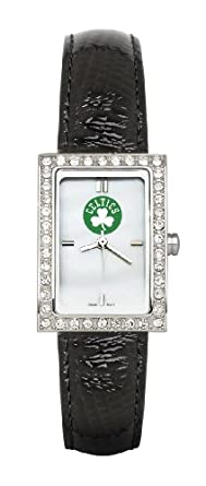 Boston Celtics Ladies Allure Leather Watch by Logo Art