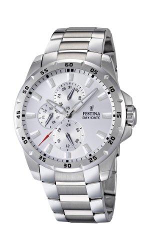 Festina F16662/1 - Reloj analógico de cuarzo para hombre con correa de acero inoxidable, color plateado