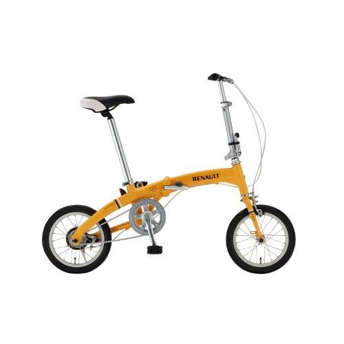 RENAULT(ルノー) AL-FDB140 HANDY オレンジ 14インチ DAHON製アルミフレーム 超軽量&超コンパクト折りたたみ自転車 ハンディモデル アシンメトリー(左右非対称)フレーム採用 11223-1099