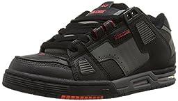 Globe Men\'s Sabre Skateboard Shoe, Black/Charcoal/Infrared, 10.5 M US