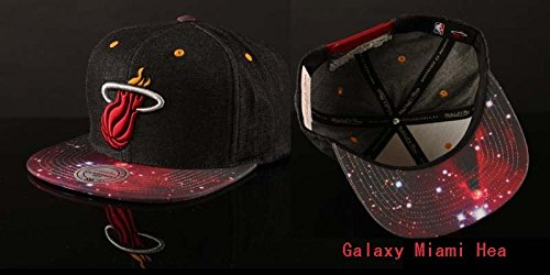 NBA Adjustable Miami Heat Galaxy Snapback Cap Hat Cap For Men Baseball Cap (Monster Energy Pom Beanie compare prices)