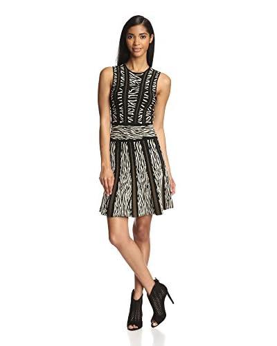 Torn by Ronny Kobo Women's Hilda Zebra Jacquard Dress
