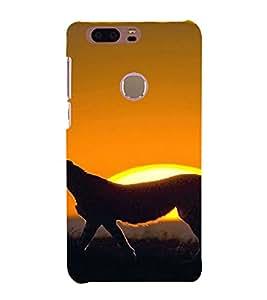 PrintVisa Animal Leopard Design 3D Hard Polycarbonate Designer Back Case Cover for HONOR 8