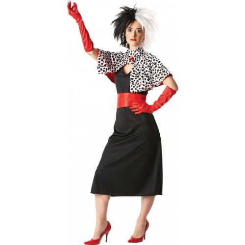 Adult Ladies Cruella De Ville Costume
